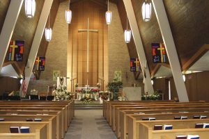 Emmaus sanctuary at Easter